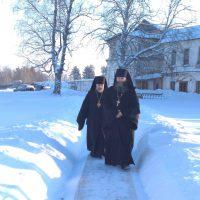 В прошедший воскресный день, 04 февраля, Александро-Ошевенскую обитель посетил Правящий архиерей Преосвященнейший Александр, епископ Плесецкий и Каргопольский.