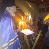 21 февраля в Александро- Ошевенском монастыре чин Великого повечерия с чтением канона прп. Андрея Критского совершил преосвященный Александр, епископ Плесецкий и Каргопольский.