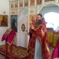 Братия и прихожане Александро-Ошевенского монастыря поздравили своего наместника игумена Феодосия с днем рождения.