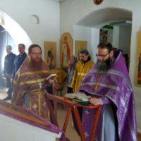 Богослужение в Неделю Торжества Православия в Александро-Ошевенском монастыре.