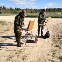 Профессиональные художники со всей страны собрались в Александро-Ошевенском монастыре на всероссийский пленэр.