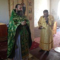 Богослужение в деревне Боросвидь.