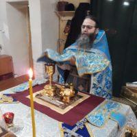 Наместник Александро-Ошевенского монастыря игумен Феодосий (Курицын) совершил праздничное Богослужение в Заоаникиевой пустыни.