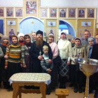 Паломнические группы из Архангельска, Мирного и Онеги посетили на Крещение обитель преподобного Александра.