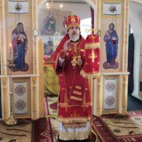 Правящий архиерей Плесецкой епархии отслужил в обители преподобного Александра Божественную литургию.