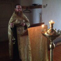 Богослужение в Богоявленском Кожеезерском монастыре.