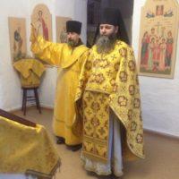 Богослужение в день памяти преподобного Антония Сийского.