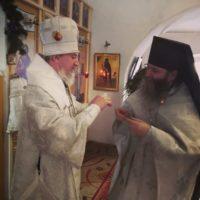 Архиерейское богослужение в обители преподобного Александра.