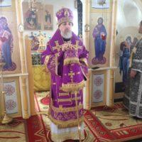 Епископ Александр совершил уставные великопостные богослужения в Ошевенском монастыре.